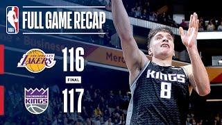 Full Game Recap: Lakers VS Kings | Bogdanovic 3 Wins It At The Buzzer