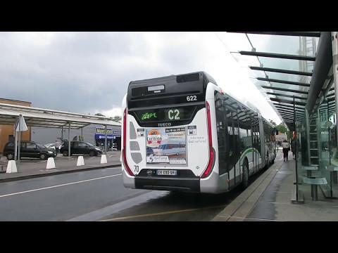 IVECO UrbanWay 18 CNG Voith #622 | Ligne C2 | Réseau TAN de Nantes