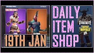 Fortnite: Daily Item Shop (19th Jan 2019) FLYTRAP & NITELITE Featured Skin - Battle Royale New Items