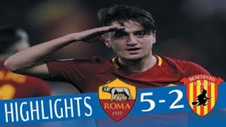 Roma - Benevento 5-2 - Highlights - Giornata 24 - Serie A TIM 2017/18