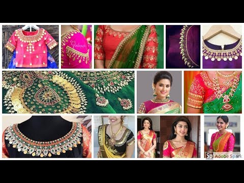Latest Bridal Kasu Work Blouse Designs | Kasu Coin Blouse Models