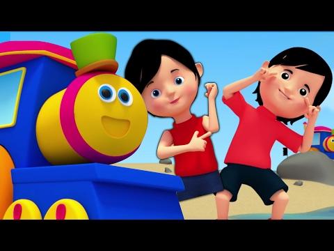 bob il treno | testa spalle ginocchia | bambini canzone | Bob The Train | Head Shoulders Knees