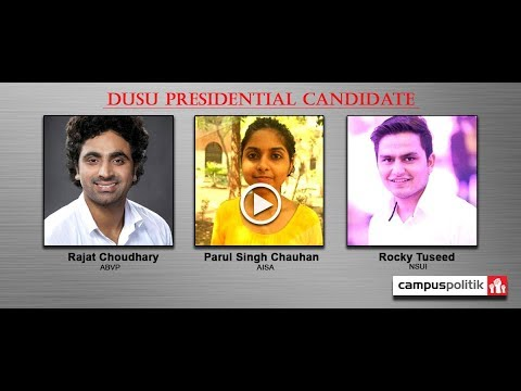 DUSU Presidential candidate square off