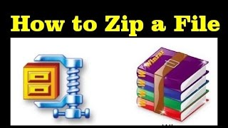 how to compress or zip a file or folder