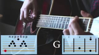 Как играть на гитаре песню группы Сплин - Ленинград - Амстердам. Разбор с Аккордами и Перебором