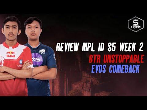 MPL ID 5 RECAP Week 2 - EVOS COMEBACK! AE KALAHKAN RRQ! BTR Mau Top 3! | Sports Pilihan Indonesia