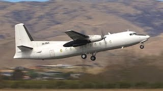 Fokker F27-500 Friendship Taxi and Takeoff