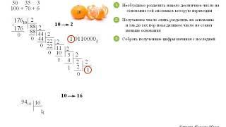 A1 Перевод из десятичной системы счисления в 2, 8, 16 целых чисел