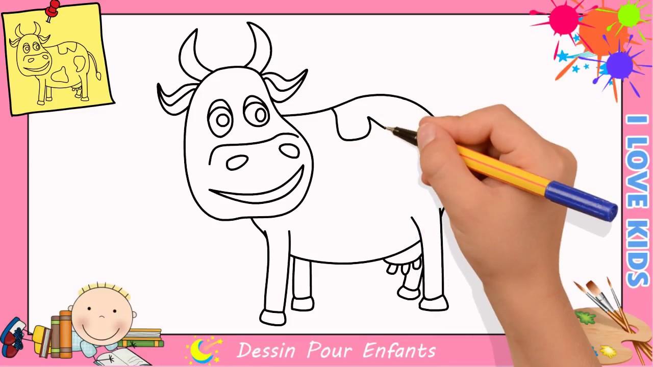 Comment Dessiner Une Vache Facilement Etape Par Etape Pour Enfants 4