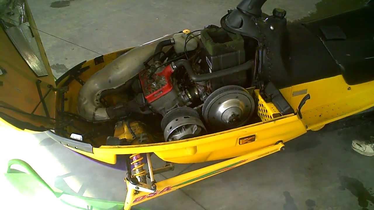 Ski Doo Parts >> 1996 Ski Doo MXZ 583 Snowmobile LOT 1031A - YouTube