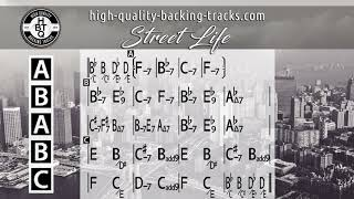 """High Quality Backing Track / """"Street Life"""" funk in F minor (HQ)"""