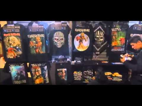 Iron Maiden Mexico Book of Souls merch + bootleg merch tents - shirts up to $550