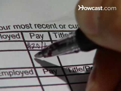 How to Fill out a Job Application - YouTube