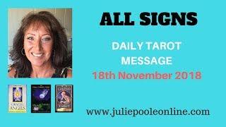 DAILY TAROT MESSAGE 18 NOVEMBER 2018