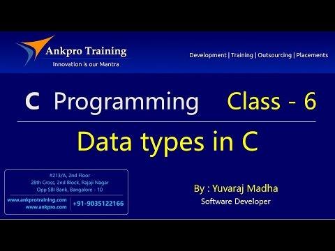 C Language - Class 6 : Data Types In C