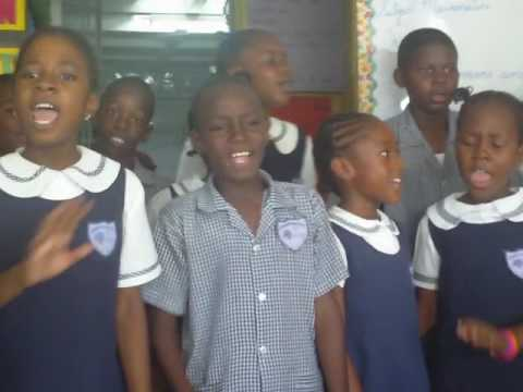 Jamaican Primary school share poetry and performance