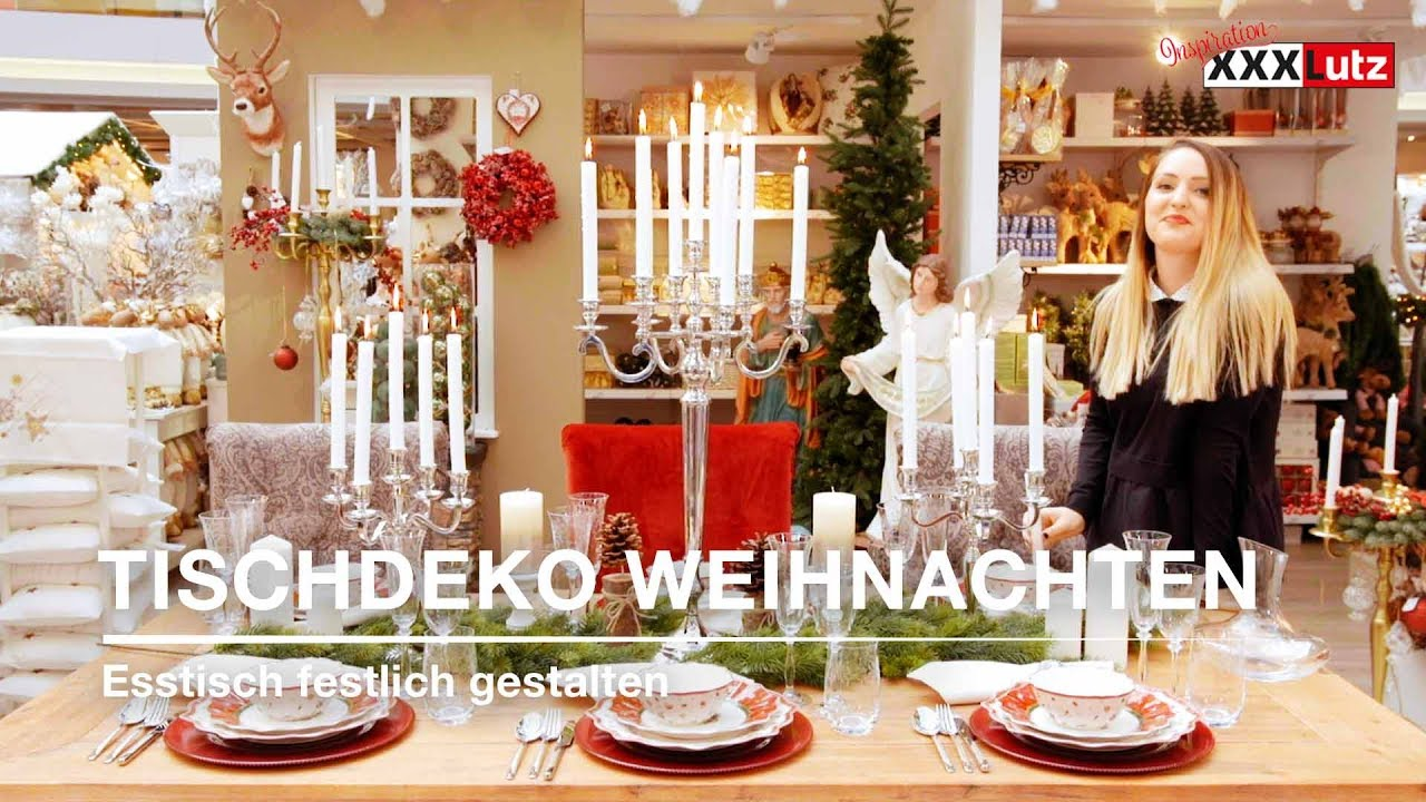 weihnachtsdeko tisch weihnachtlich eindecken xxxlutz youtube. Black Bedroom Furniture Sets. Home Design Ideas