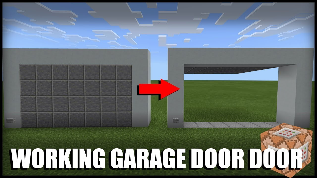 How to Make a Working Garage Door in Minecraft (Command Block)  sc 1 st  YouTube & How to Make a Working Garage Door in Minecraft (Command Block) - YouTube