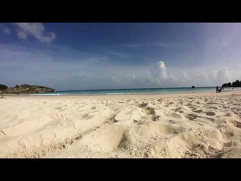 At the beach in Bermuda