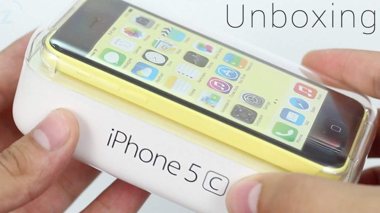 Yellow iPhone 5c Unboxing, Hands On - YouTube