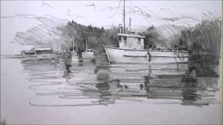 Pencil drawing Boat
