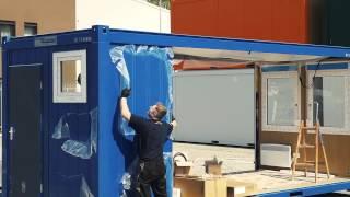 видео Сантехнический блок контейнер с душем и туалетом