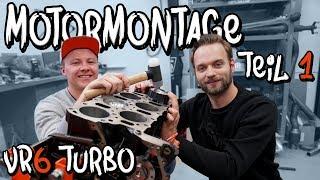 Wir bauen Marius VR6 Turbo Motor zusammen! Teil 1| Philipp Kaess |