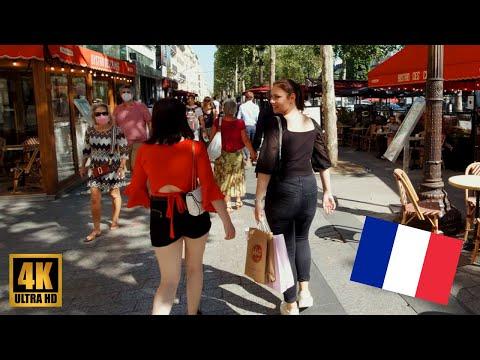 【4K】Champs-Elysees Paris Summer 2020 Walking Tour in Ultra HD (2160p 50fps)