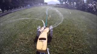 water lawn tractor sprinkler timelapse
