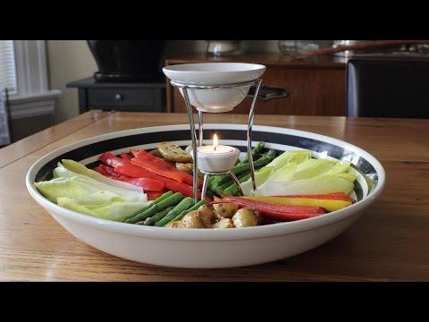 Bagna Cauda - Hot Garlic & Anchovy Vegetable Dip Recipe - Fancy Super Bowl Dip