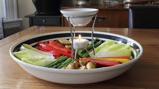 Bagna Cauda - Hot Garlic & Anchovy Vegetable Dip Recipe - Fancy Super Bowl Dip