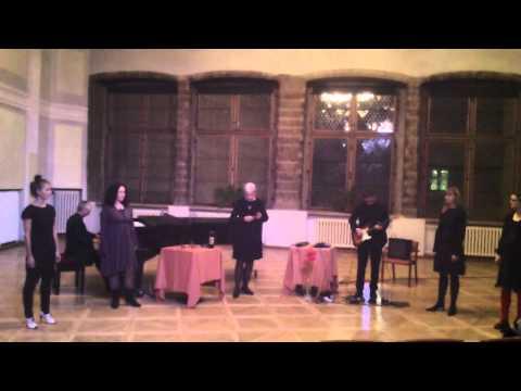 Free Tallinn Trio & Voice Impro Quartet in Blackhead House in Tallinn, 22.02.2013