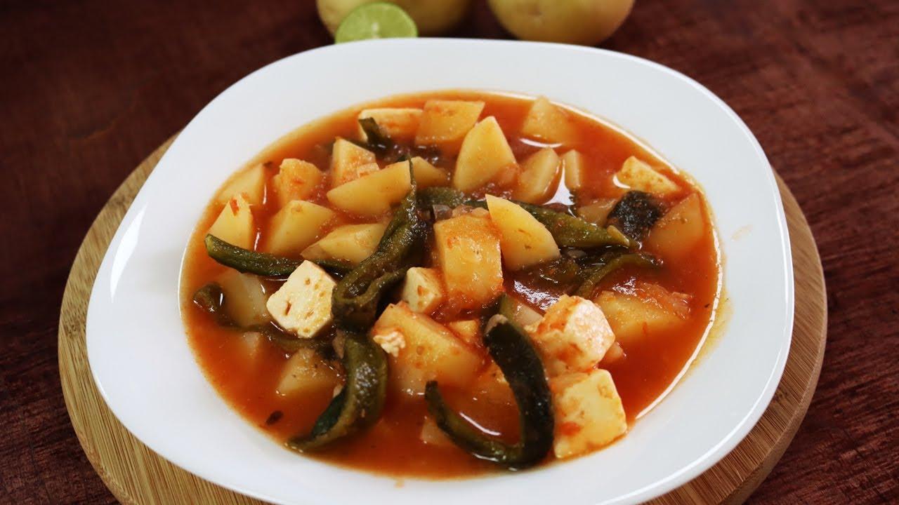 Como hacer sopa de papa con queso y chiles poblanos que sin duda queda delicioso 😱🥔🧀