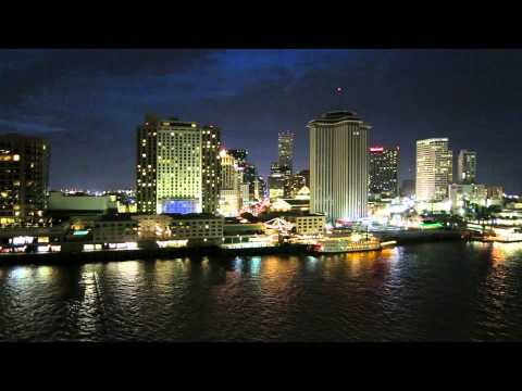 Carnival Dream Cruise Leaving Port from New Orleans at night Pt2
