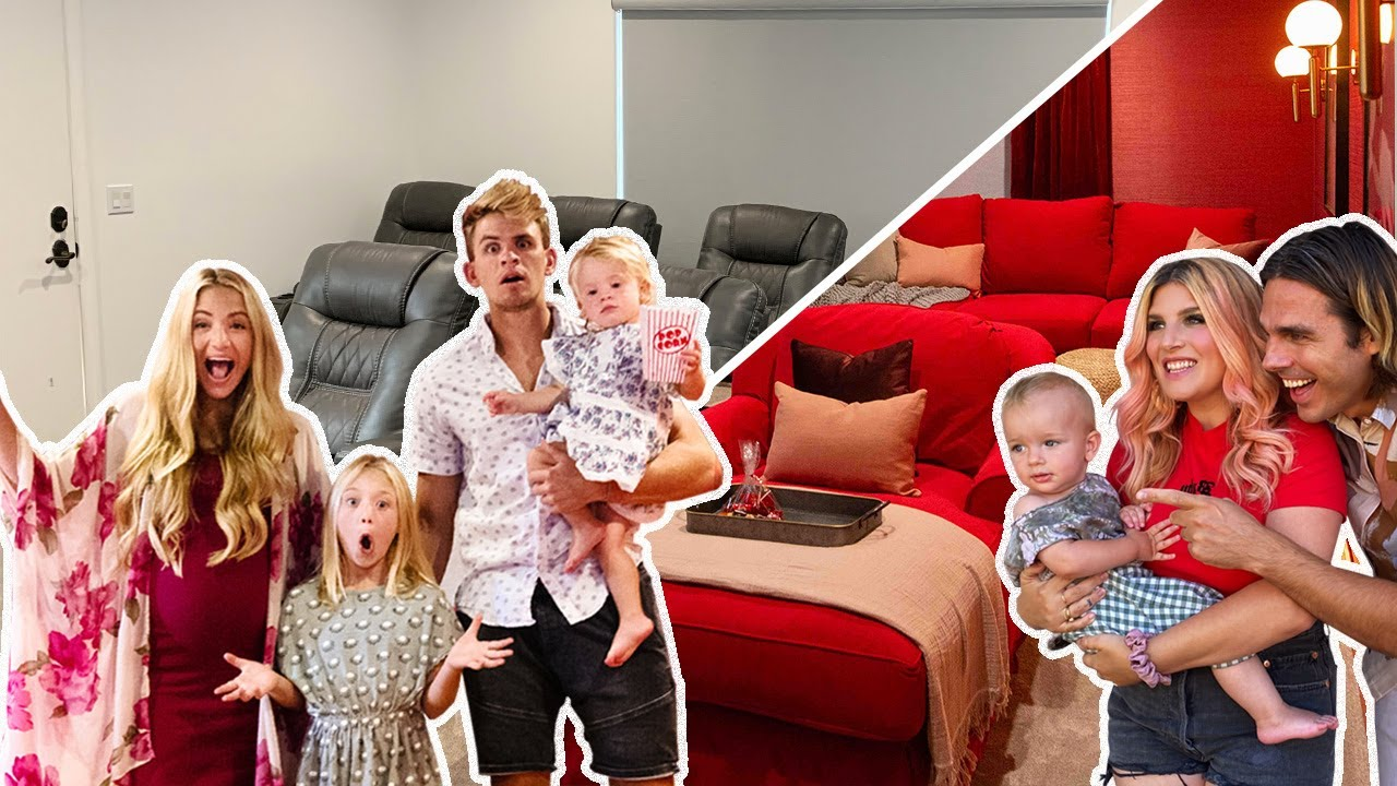 Ultimate DIY Home Movie Theater For The LaBrant Family! - YouTube