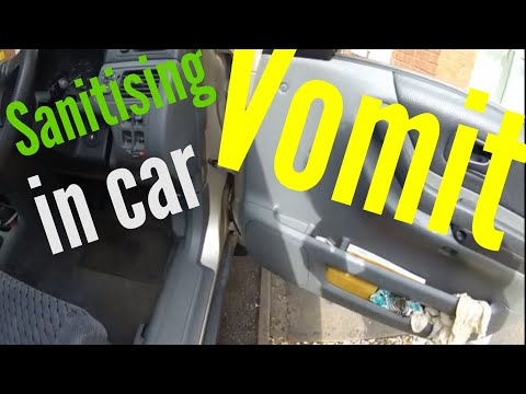 Sanitising vomit, ready for cleaning up sick in a vehicle #InsideWireTV
