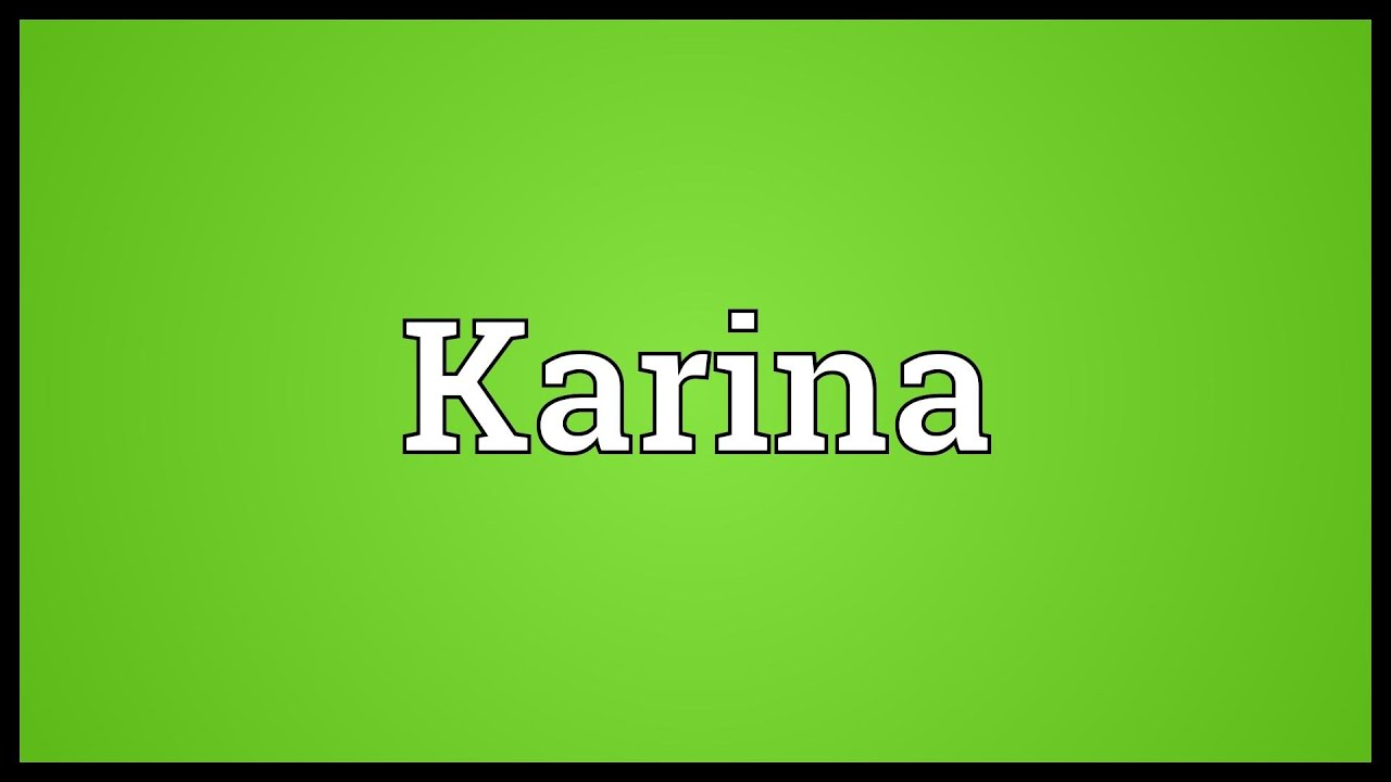 What does the name Karina mean 88
