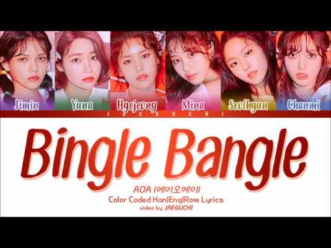 AOA - Bingle Bangle (빙글뱅글) (Color Coded Lyrics Eng/Rom/Han)