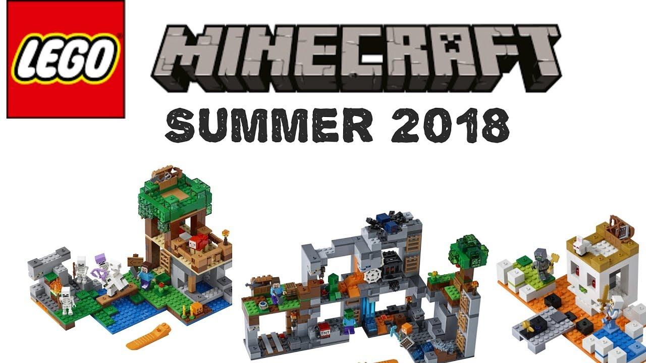 Lego News Lego Minecraft Summer 2018 Sets Youtube
