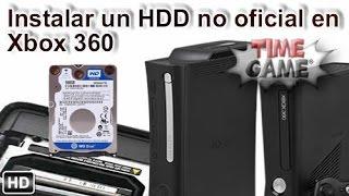 Instalar un HDD interno en Xbox 360 fat / slim