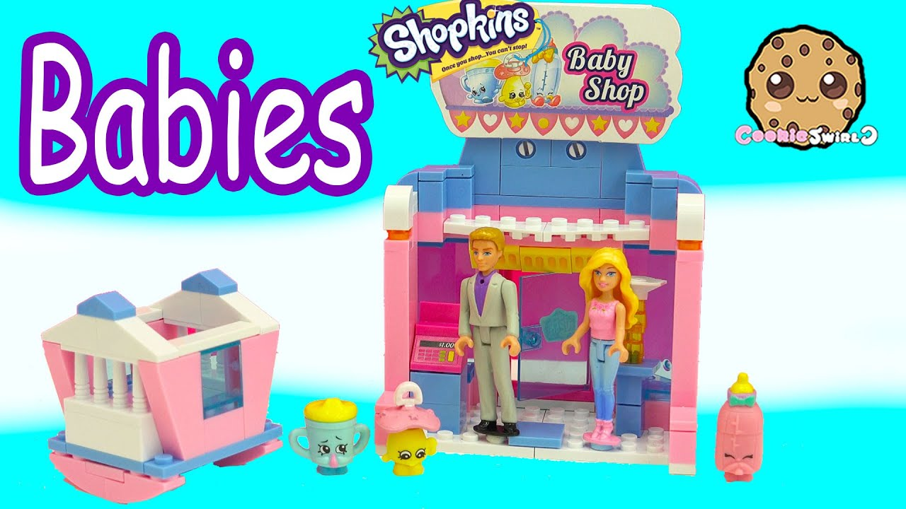 Barbie & Ken Play with Babies At Shopkins Baby Shop Kinstructions