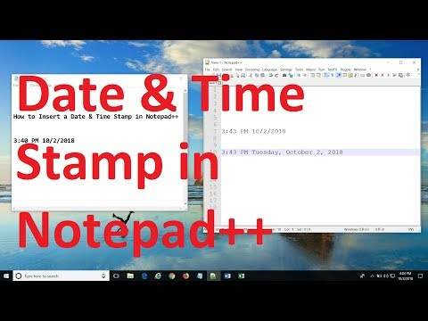 How To Insert Date And Time Stamp In Notepad++