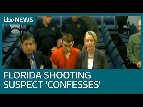 Florida shooting suspect Nikolas Cruz 'confesses' as lawyer says he is broken by attack | ITV News