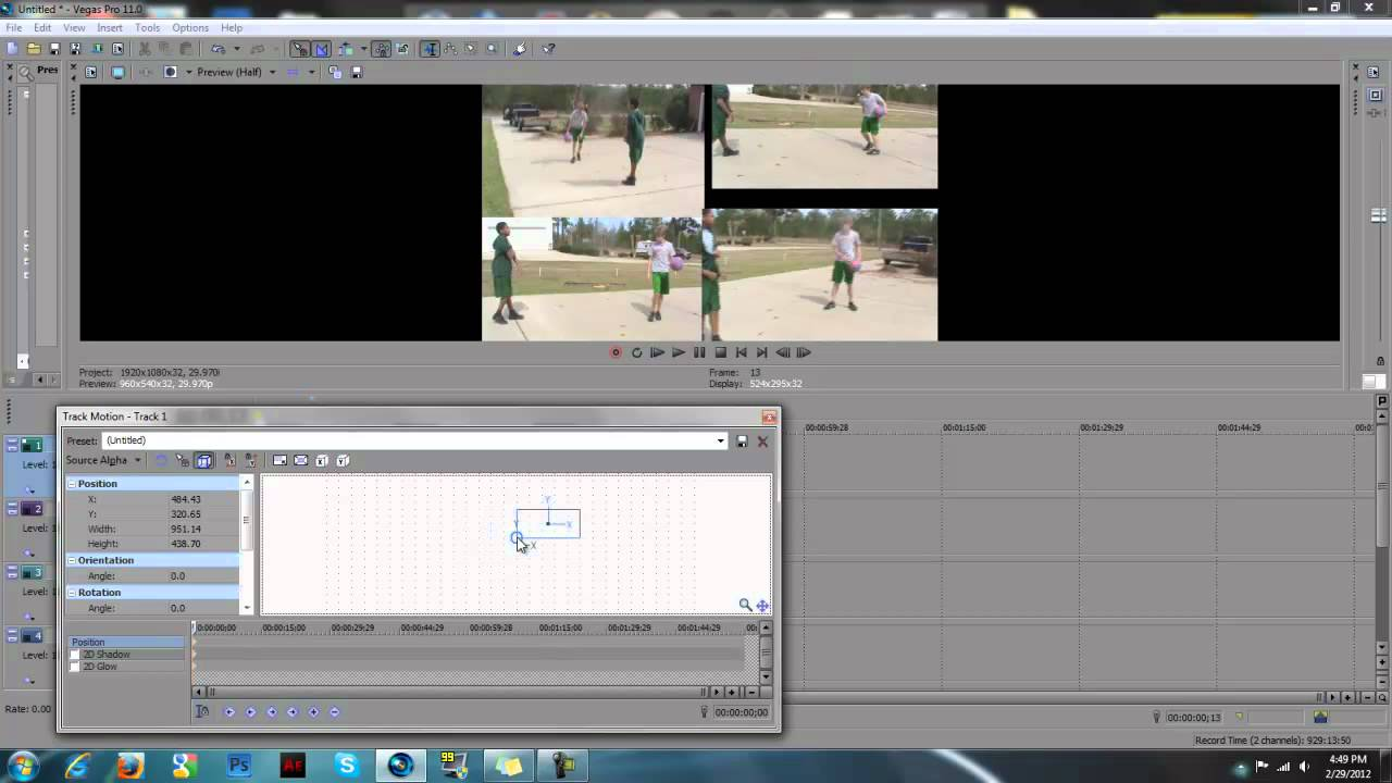 how to put text on screen in sony vegas
