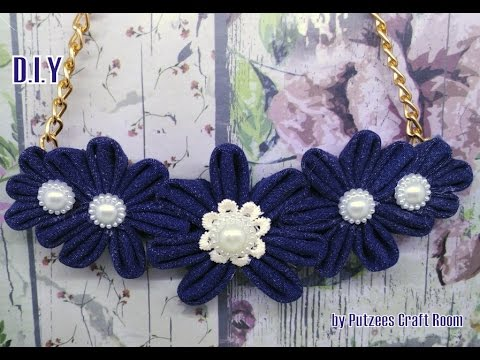 Cara Membuat Kalung Denim Diy Fabric Necklace Tutorial 1 Youtube