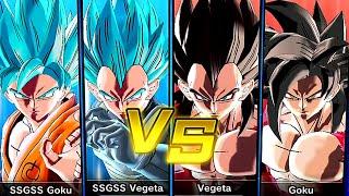 SSGSS VS SSJ4 Gameplay Dragon Ball Xenoverse