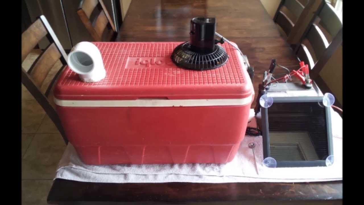 Redneck Ice Chest Air Conditioner Youtube