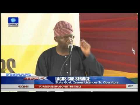 Lagos Cab Service: State Govt Issues Licences To Operators 24/04/15