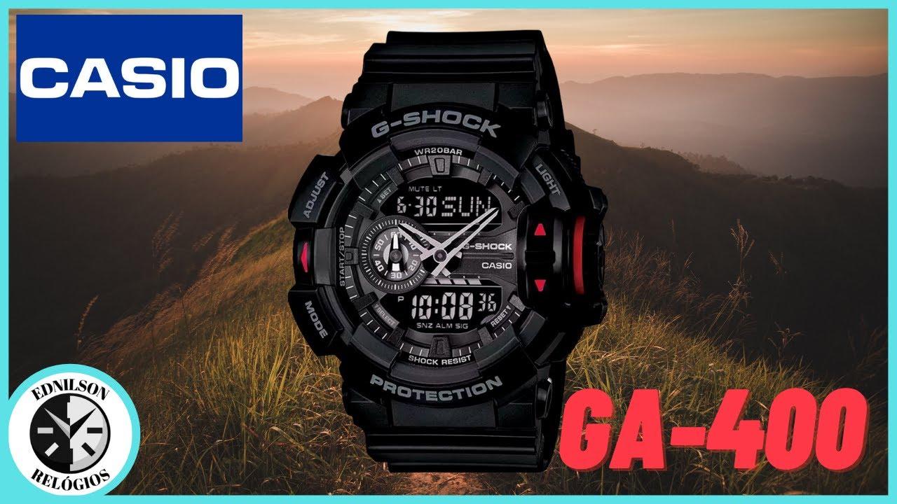 f16a2e815f8 Review G shock GA 400 PT BR. EDNILSON RELÓGIOS