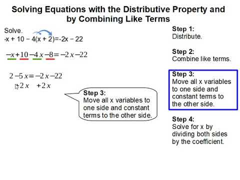 Distributive Property And Combining Like Terms Solving Equations Worksheet  - Tessshebaylo